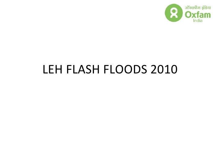 Leh Ladakh flash floods Oxfam india