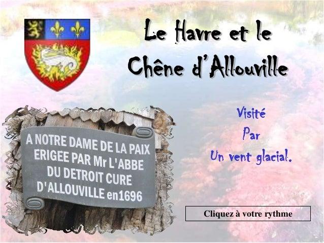 Le Havre et leChêne d'AllouvilleVisitéParUn vent glacial.Cliquez à votre rythme