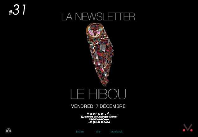 Newsletter #31 - Le Hibou Agence .V. du 7 décembre 2012