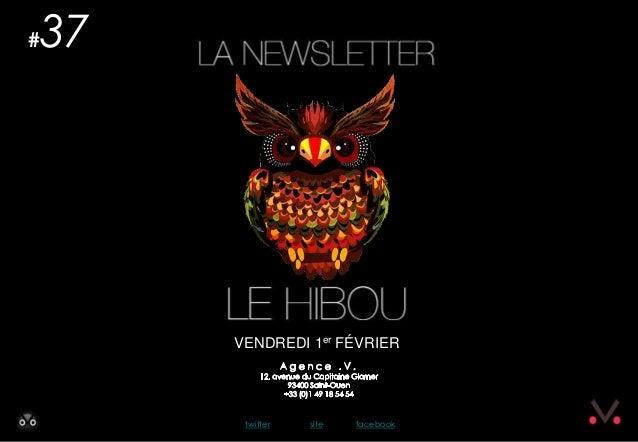 #   37         VENDREDI 1er FÉVRIER          twitter   site   facebook