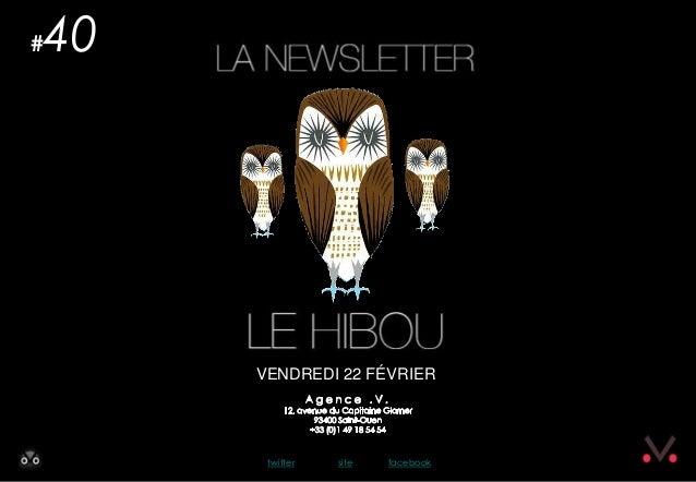 Le Hibou Newsletter #40 le Hibou du 22 février 2013