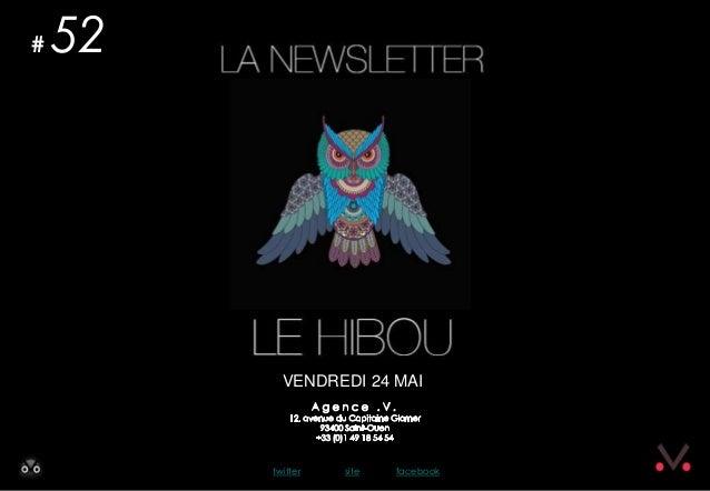 Newsletter #52 - Le Hibou Agence .V. du 23 mai 2013