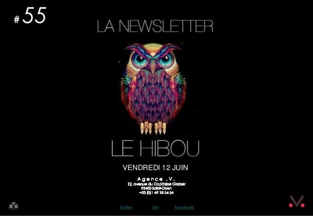 Newsletter #55 - Le Hibou Agence .V. du 12 juin 2013