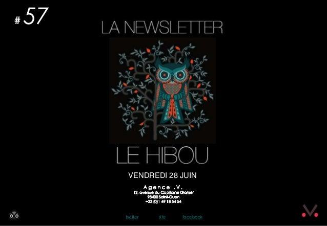 Newsletter #57 - Le Hibou Agence .V. du 27 juin 2013