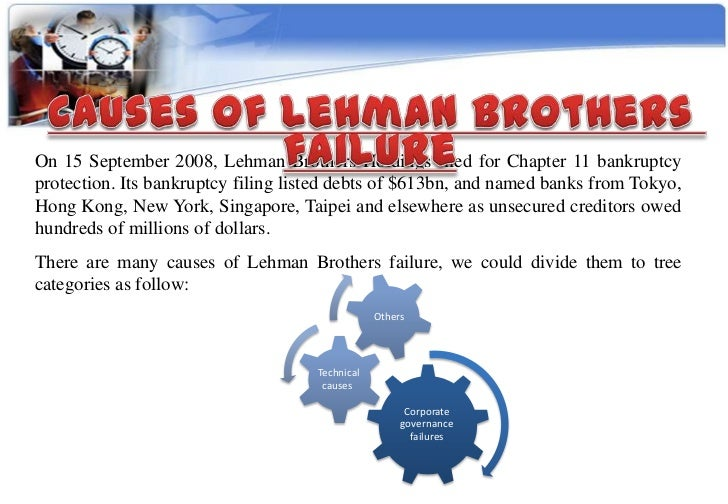 lehman brothers failure questions Lehman brothers: the failure of the legal gatekeeper lehman brothers this essay concerns the question of what the failure of lehman brothers provides.