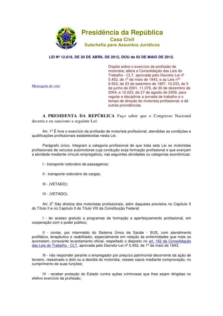 Presidência da República                                                  Casa Civil                                Subche...