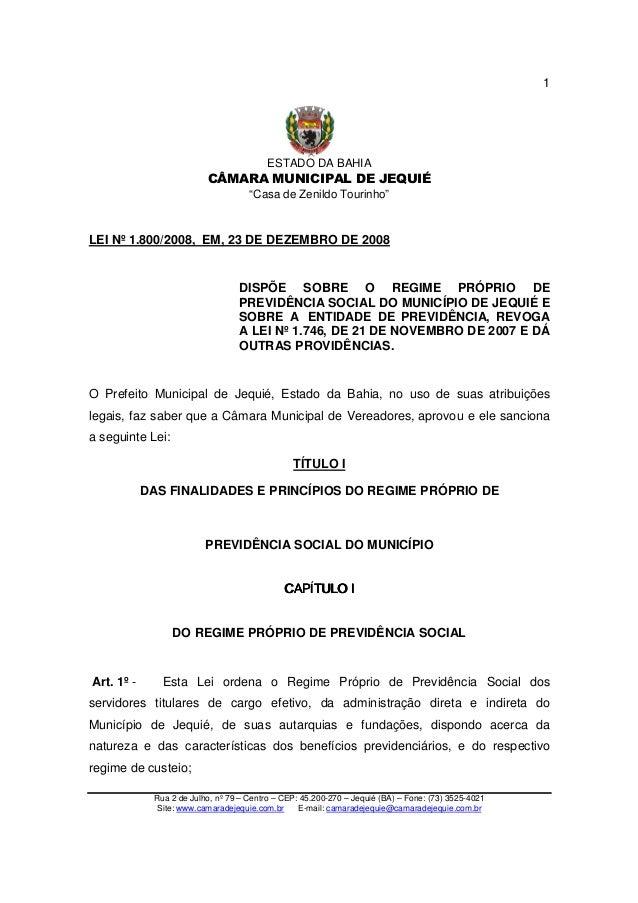 """ESTADO DA BAHIA CÂMARA MUNICIPAL DE JEQUIÉ """"Casa de Zenildo Tourinho"""" Rua 2 de Julho, nº 79 – Centro – CEP: 45.200-270 – J..."""