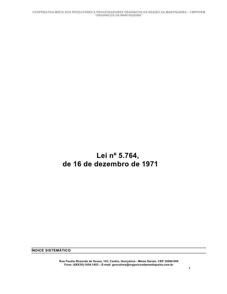 Lei 5764