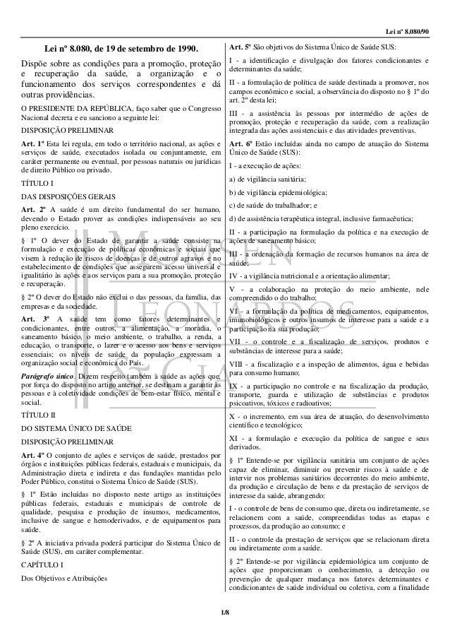 Lei 8080 1990 8pg