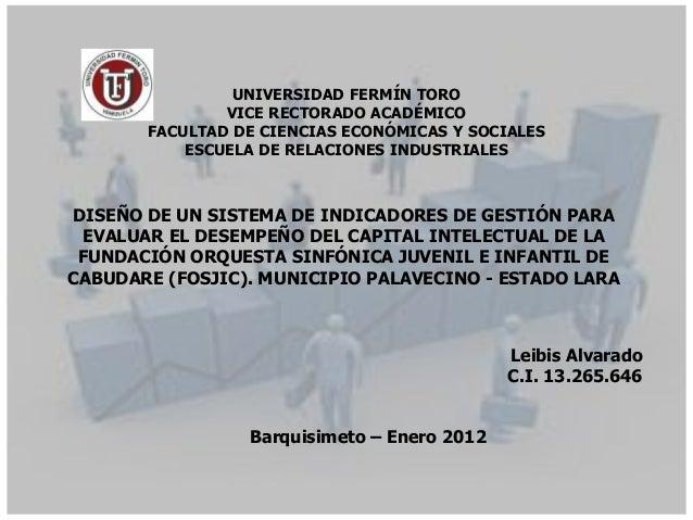 UNIVERSIDAD FERMÍN TORO               VICE RECTORADO ACADÉMICO       FACULTAD DE CIENCIAS ECONÓMICAS Y SOCIALES           ...