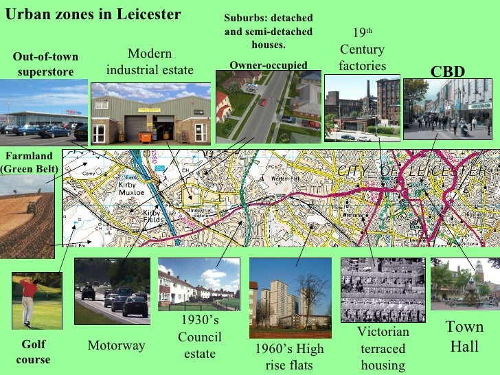 Leicester urban zones