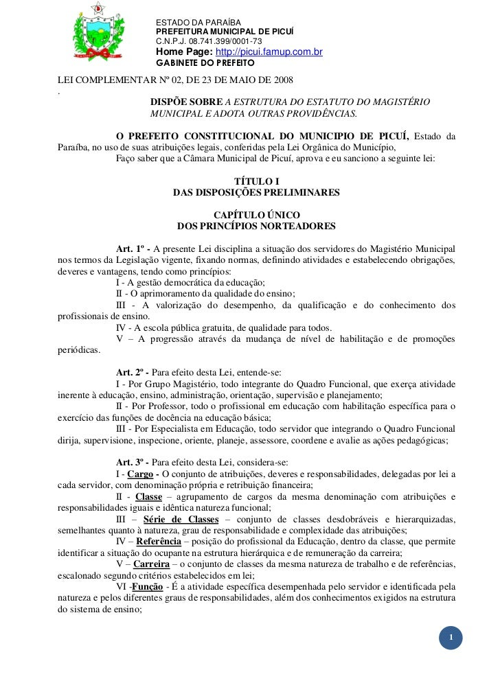 ESTADO DA PARAÍBA                         PREFEITURA MUNICIPAL DE PICUÍ                         C.N.P.J. 08.741.399/0001-7...