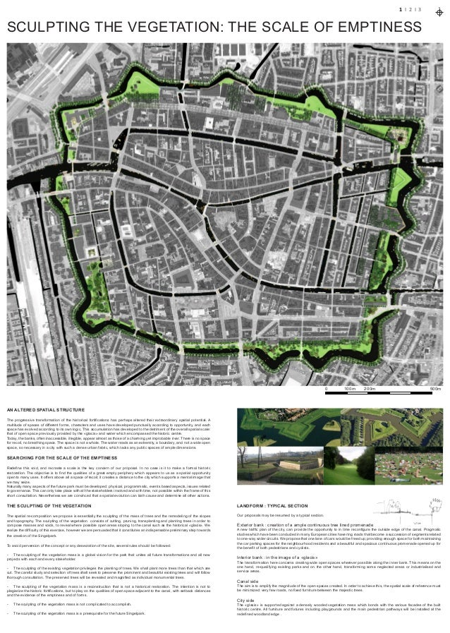 0 500m100m 200m1 I 2 I 3NAN ALTERED SPATIAL STRUCTUREThe progressive transformation of the historical fortifications has p...