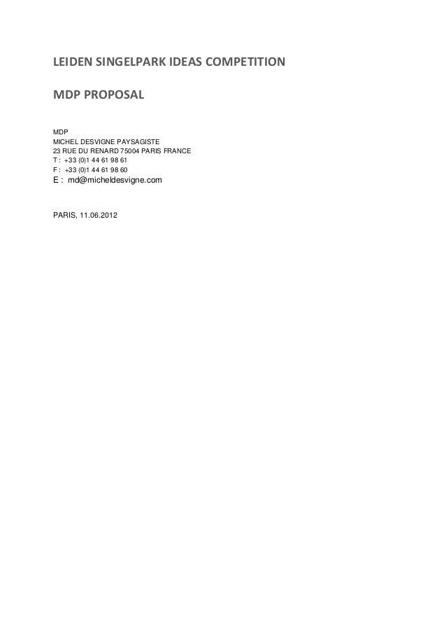 Michel Desvigne Paysagistes, Singelpark Design Competition, essay