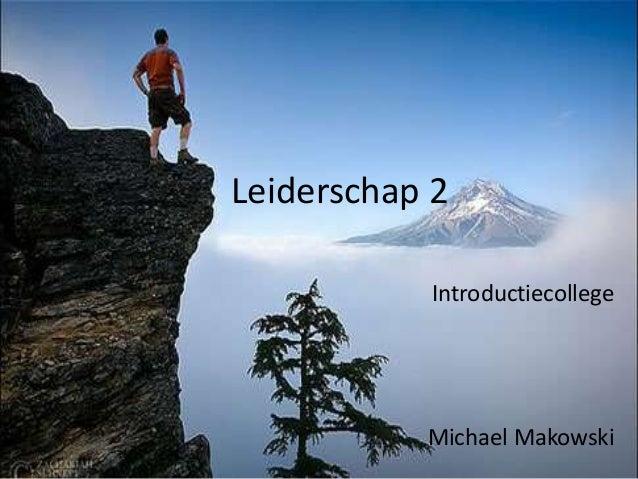 Leiderschap 2 introductie