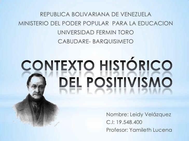 REPUBLICA BOLIVARIANA DE VENEZUELAMINISTERIO DEL PODER POPULAR PARA LA EDUCACION           UNIVERSIDAD FERMIN TORO        ...