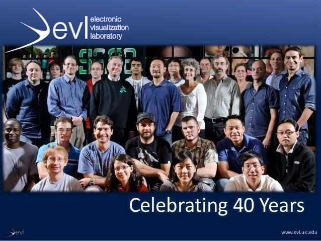www.evl.uic.edu Celebrating 40 Years