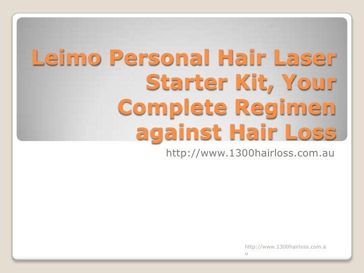 Leimo Personal Hair Laser Starter Kit, Your Complete Regimen against Hair Loss
