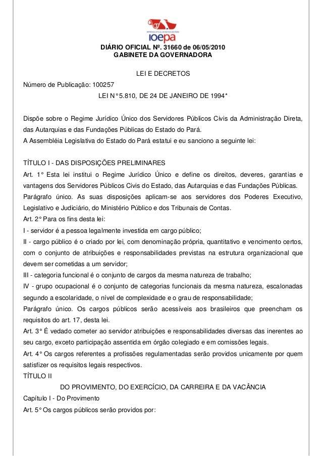 DIÁRIO OFICIAL Nº. 31660 de 06/05/2010                                GABINETE DA GOVERNADORA                             ...