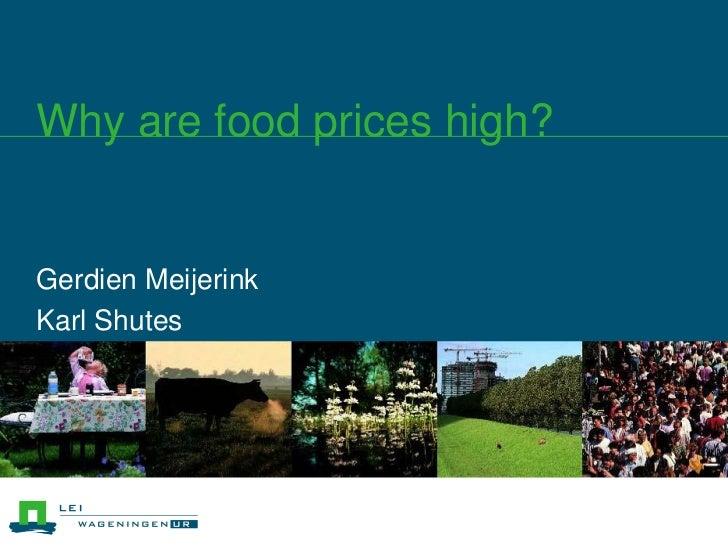 GerdienMeijerink<br />Karl Shutes<br />Why are food prices high?<br />