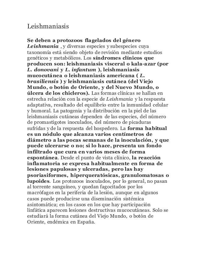 Leishmaniasis Se deben a protozoos flagelados del género Leishmania , y diversas especies y subespecies cuya taxonomía est...