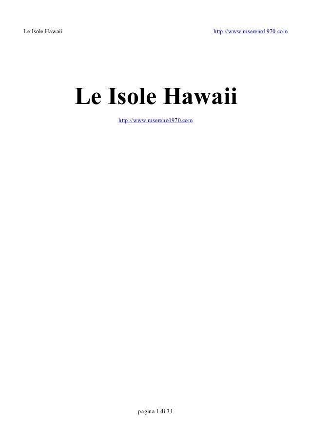 Le isole hawaii