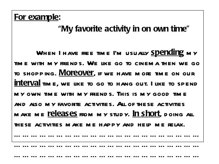 essays on my favorite activity s Check out our top free essays on favorite outdoor activity to help you write your own essay.