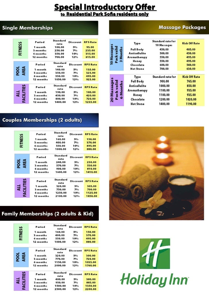 Leisure Club Price List