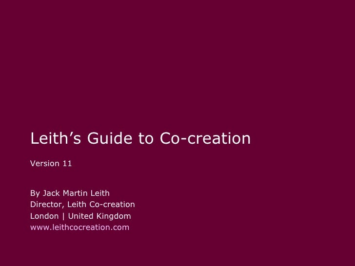 Leith co-creation-guide