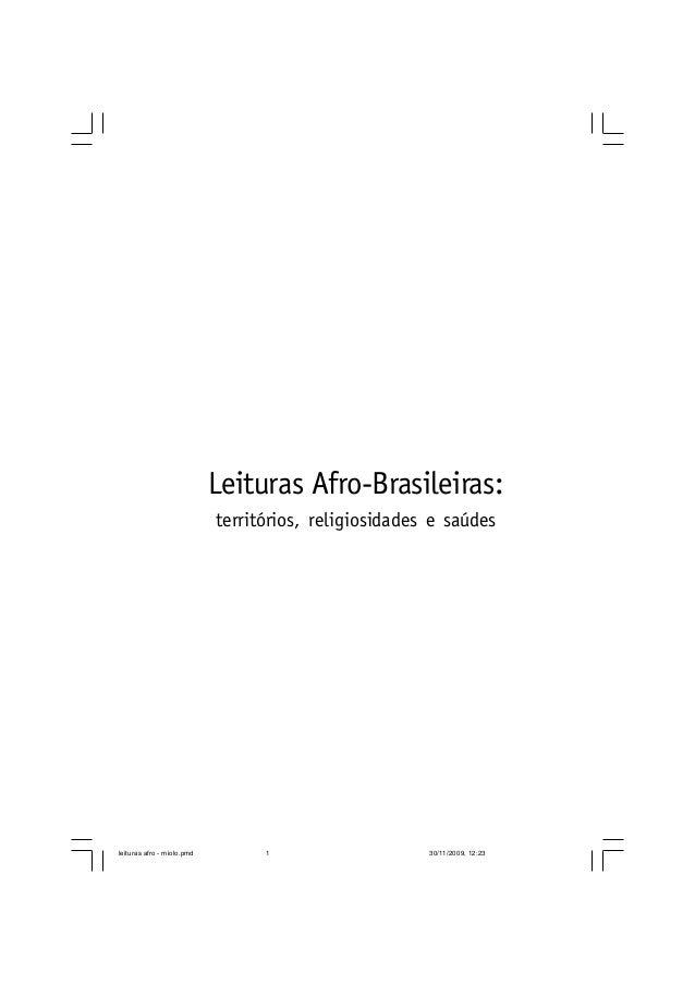 Leituras afro brasileiras