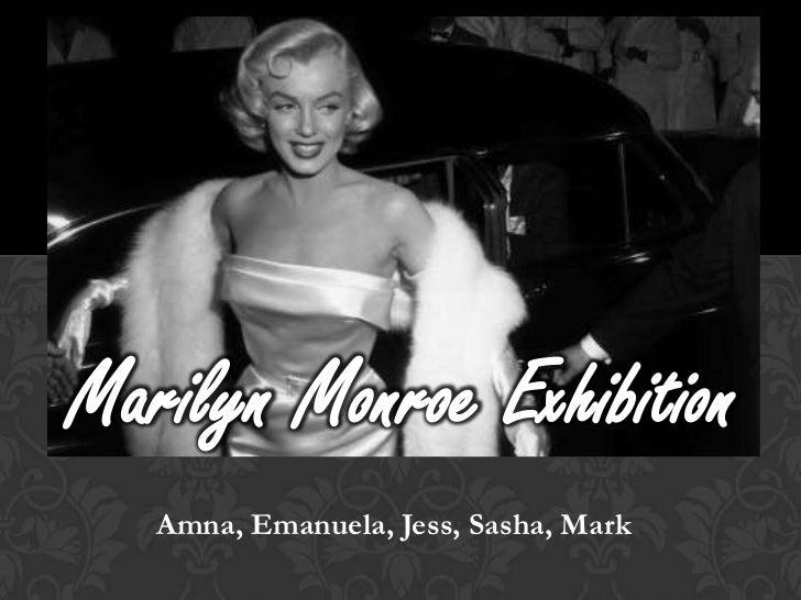 Marilyn Monroe Exhibition   Amna, Emanuela, Jess, Sasha, Mark