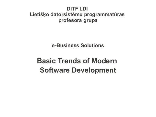e-Business - Mobile development trends