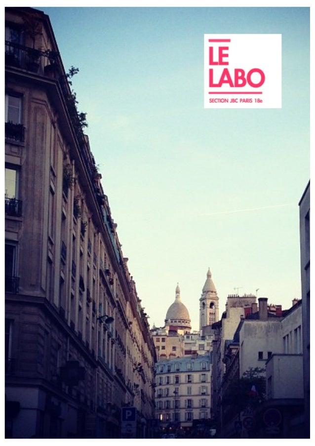 REMERCIE MENTS  Les 2 animateurs du pôle de travail du Labo, Pierre Le Texier et Fabrice Labroille, remercient chaleureuse...