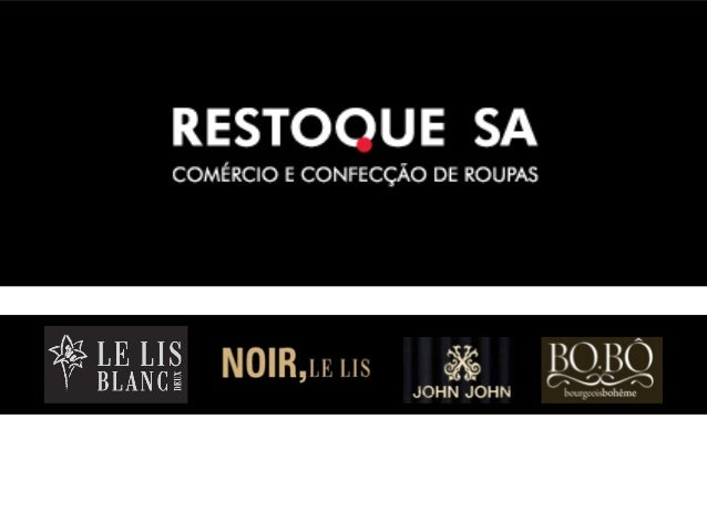 •A Restoque é uma das principais empresas varejistas do setor de vestuário eacessórios de alto padrão no Brasil. Possui at...