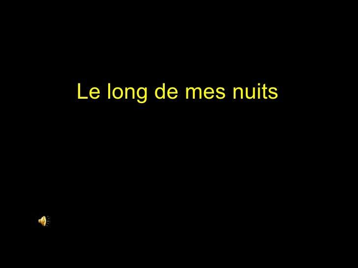 Le Long De Mes Nuits