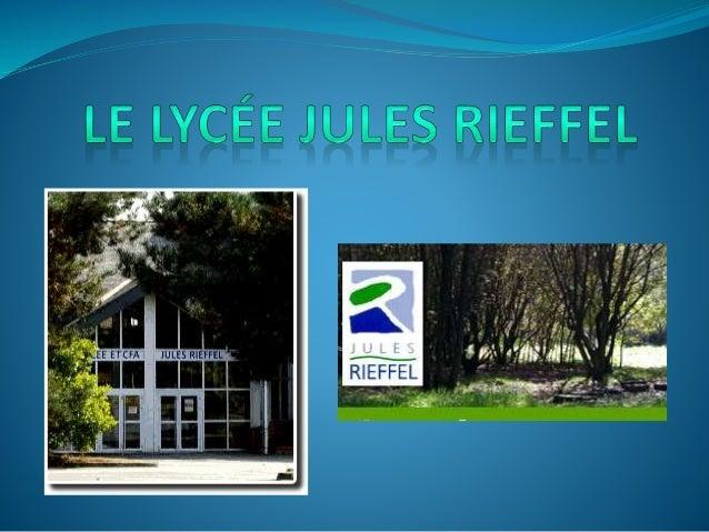 Le lycée  Le lycée Jules Rieffel est un établissement d'enseignement général scientifique et technologique agricole propo...