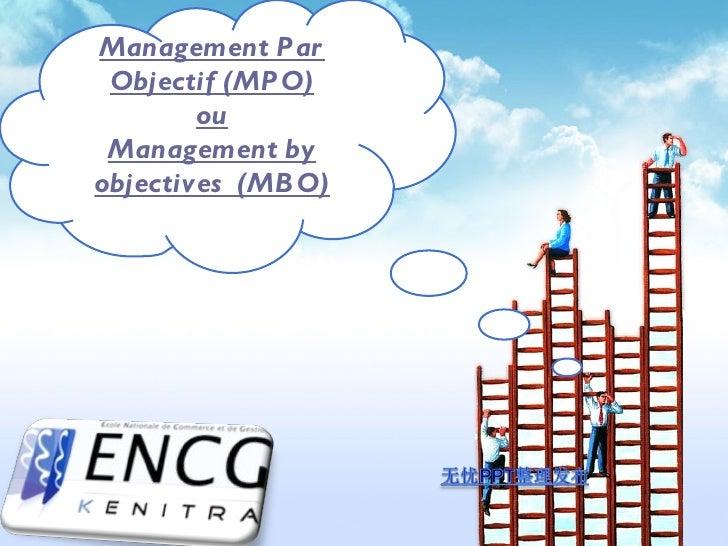 Management Par Objectif (MPO) ou Management by objectives  (MBO)