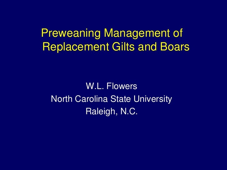 Dr. Billy Flowers - Managing gene X environment interactions on reproductive performance of replacement gilts and boars through pre-weaning management at multiplication level is this a reality?