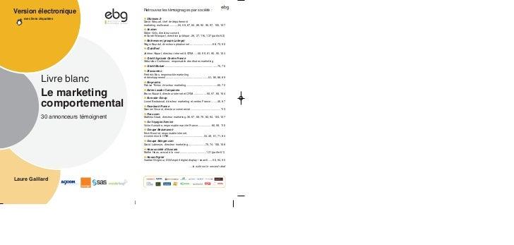 Version électronique    avec liens cliquables                Livre blanc                Le marketing                compor...