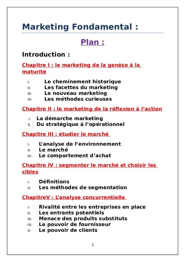 Marketing Fondamental : Plan : Introduction : Chapitre I : le marketing de la genèse à la maturité I- Le cheminement histo...