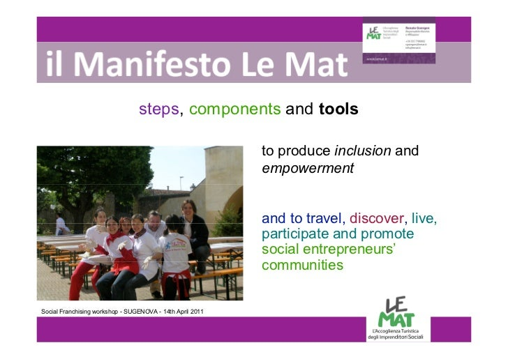 LE MAT - a social brand and franchise system