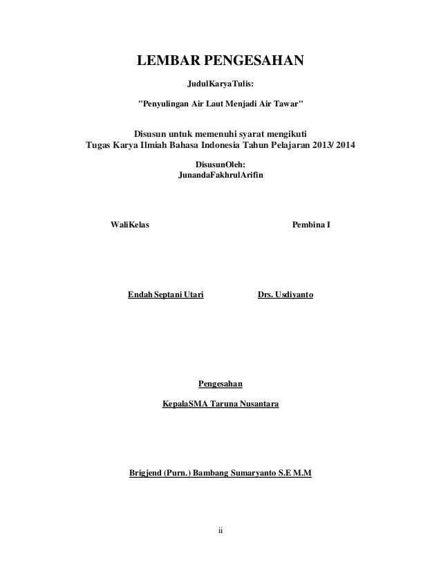 Karya Tulis Ilmiah Paper Contoh Paper Membuat Paper | Share The ...