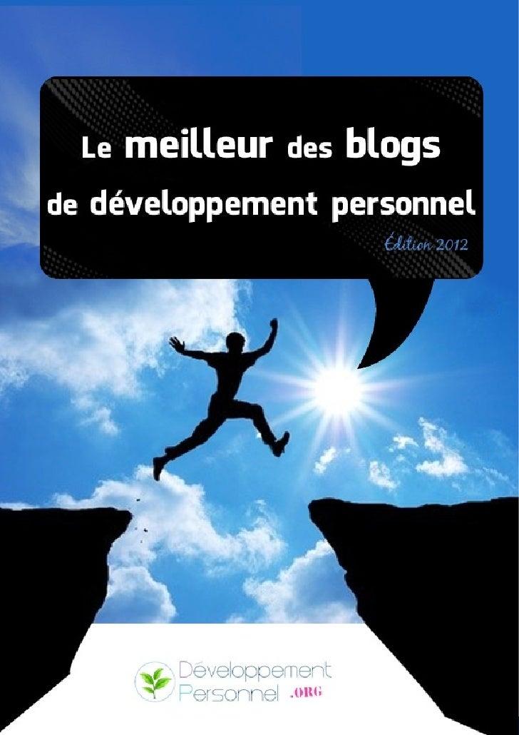 Le meilleur des blogs de développement personnel 2012