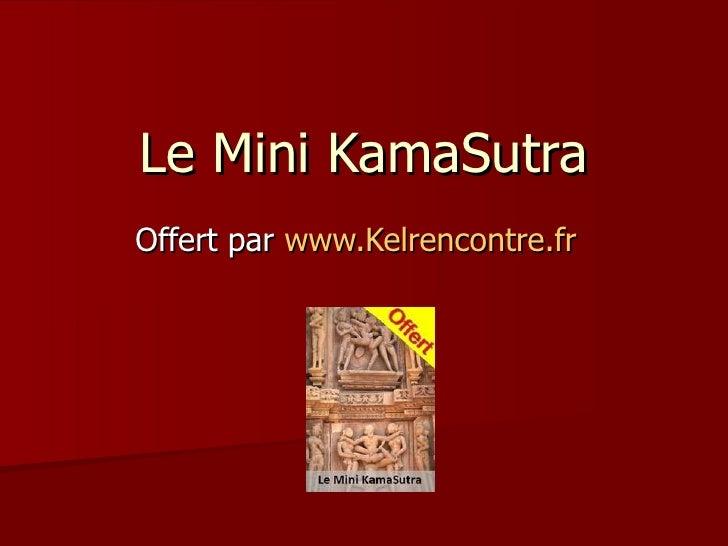 Le Mini KamaSutra Offert par  www.Kelrencontre.fr