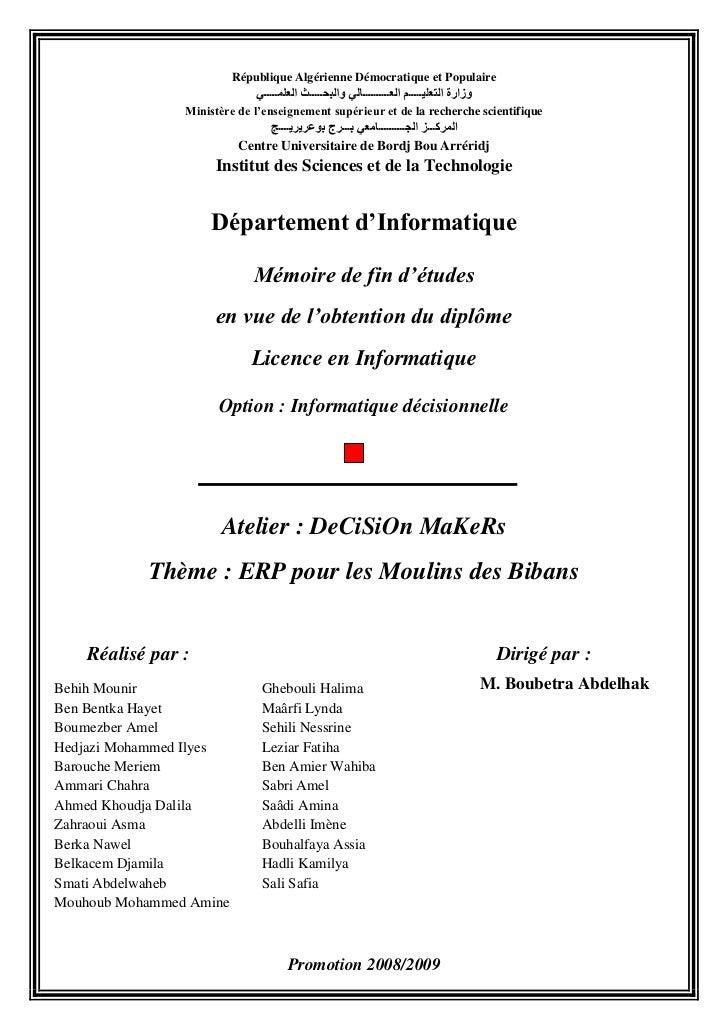 République Algérienne Démocratique et Populaire<br />وزارة التعليـــــم العــــــــــالي والبحـــــث العلمـــــي<br />Mini...