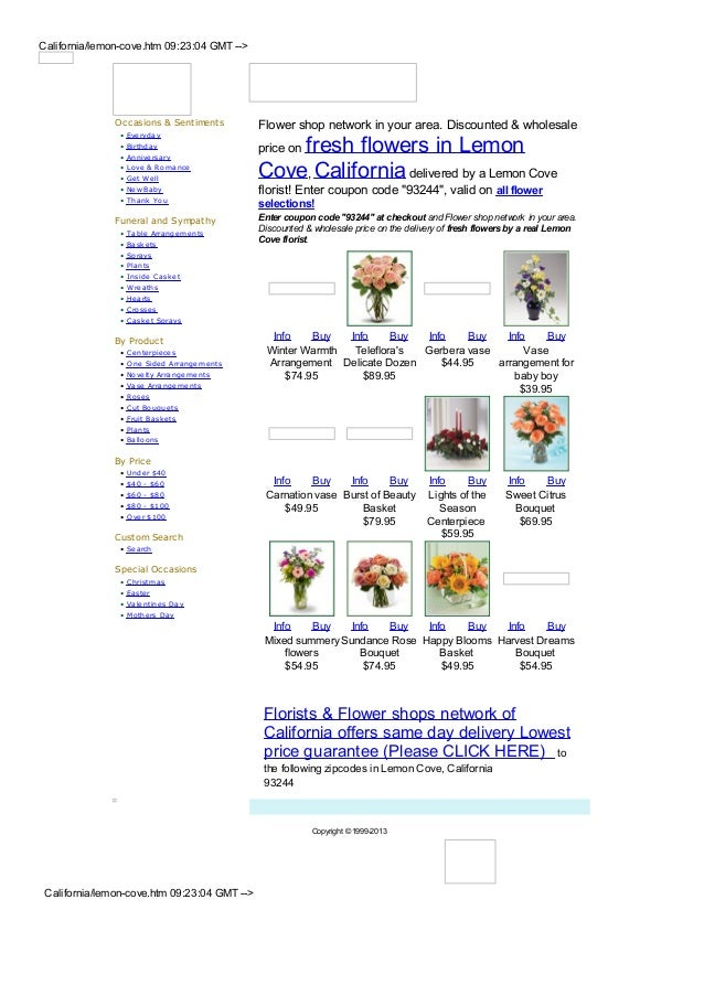 California/lemon-cove.htm 09:23:04 GMT -->               Occasions & Sentiments          Flower shop network in your area....
