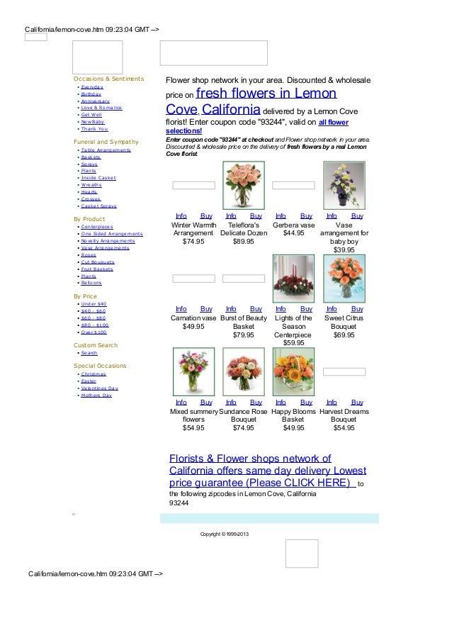 Lemon cove flower shops and florists