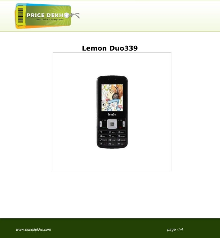Lemon Duo339www.pricedekho.com                  page:-1/4