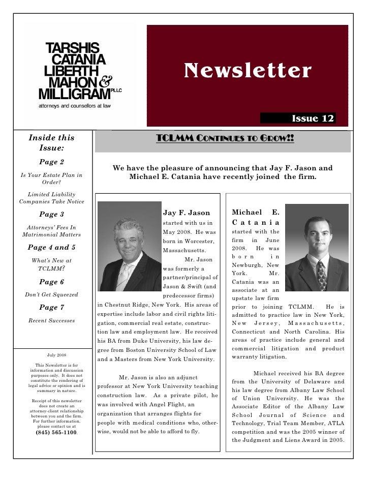 Newsletter                                                                                                           Issue...