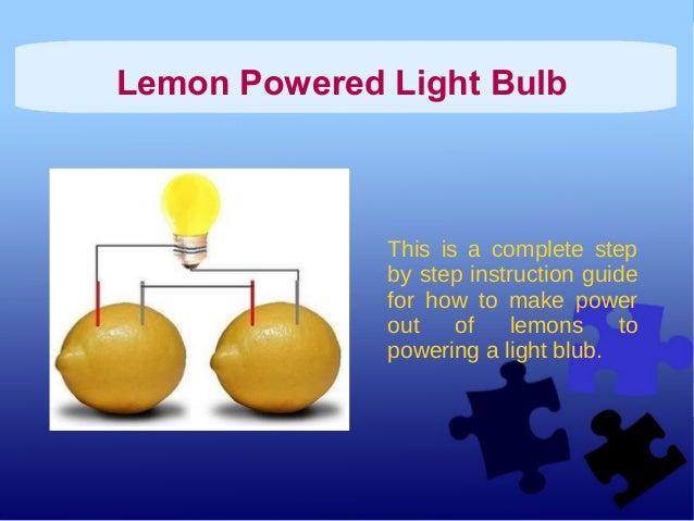 Lemon Powered Light Bulb 26454603 on Science Fair Winning Projects 2